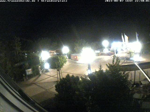 Die Webcam Trassenheide mit Bick auf den Strandvorplatz Trassenheide