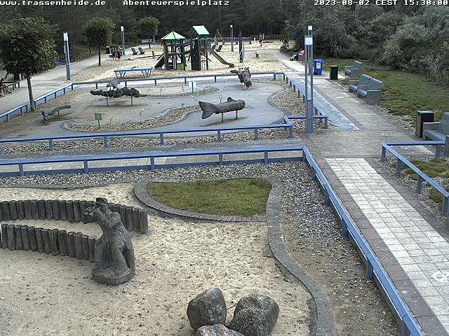 Die Webcam Trassenheide mit Bick auf den Spielplatz in Trassenheide